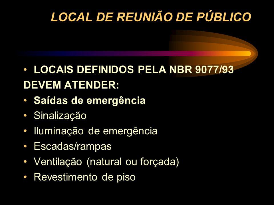 LOCAL DE REUNIÃO DE PÚBLICO