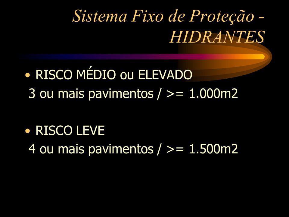 Sistema Fixo de Proteção - HIDRANTES