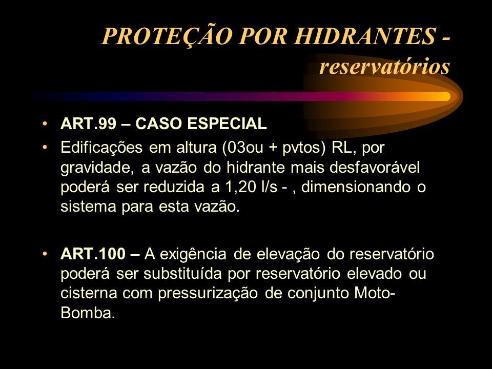 PROTEÇÃO POR HIDRANTES - reservatórios