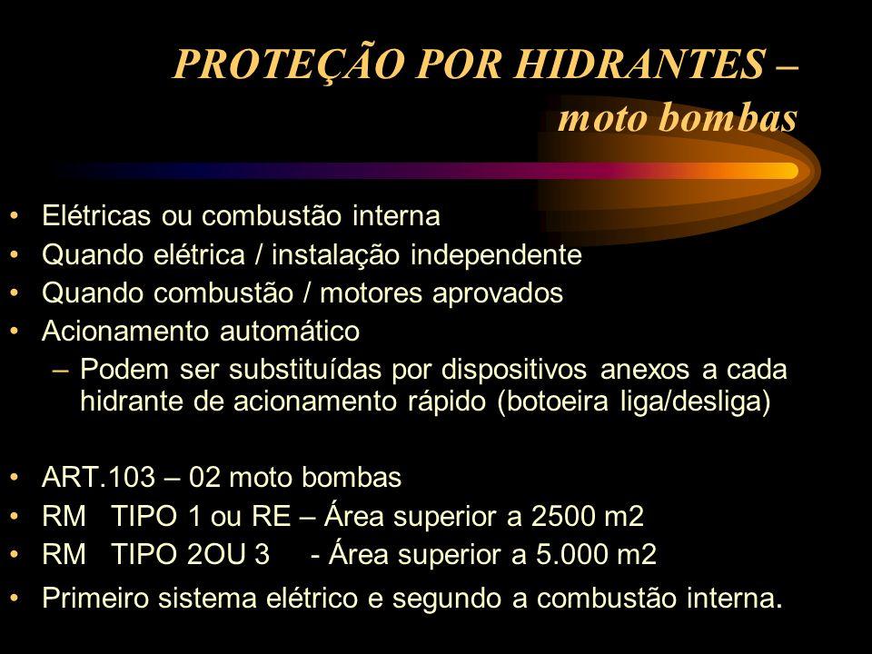 PROTEÇÃO POR HIDRANTES – moto bombas