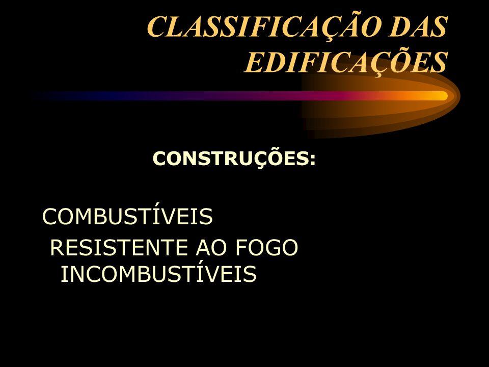 CLASSIFICAÇÃO DAS EDIFICAÇÕES