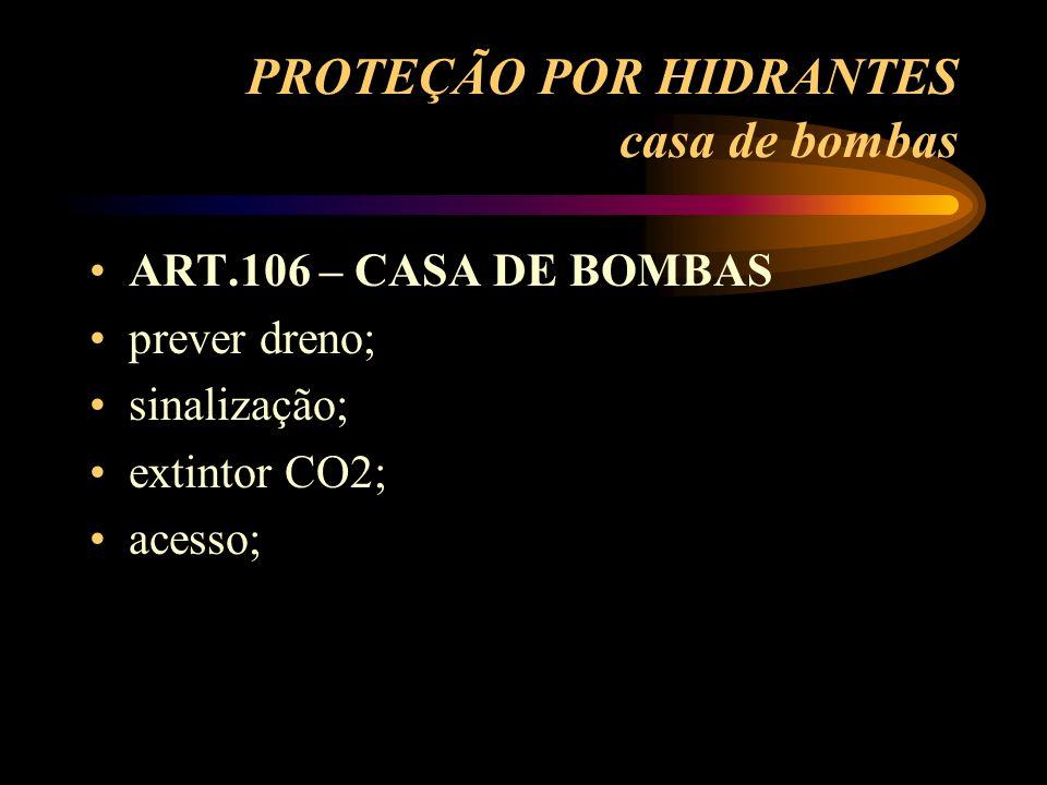 PROTEÇÃO POR HIDRANTES casa de bombas