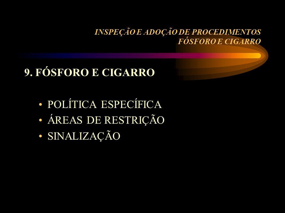 INSPEÇÃO E ADOÇÃO DE PROCEDIMENTOS FÓSFORO E CIGARRO