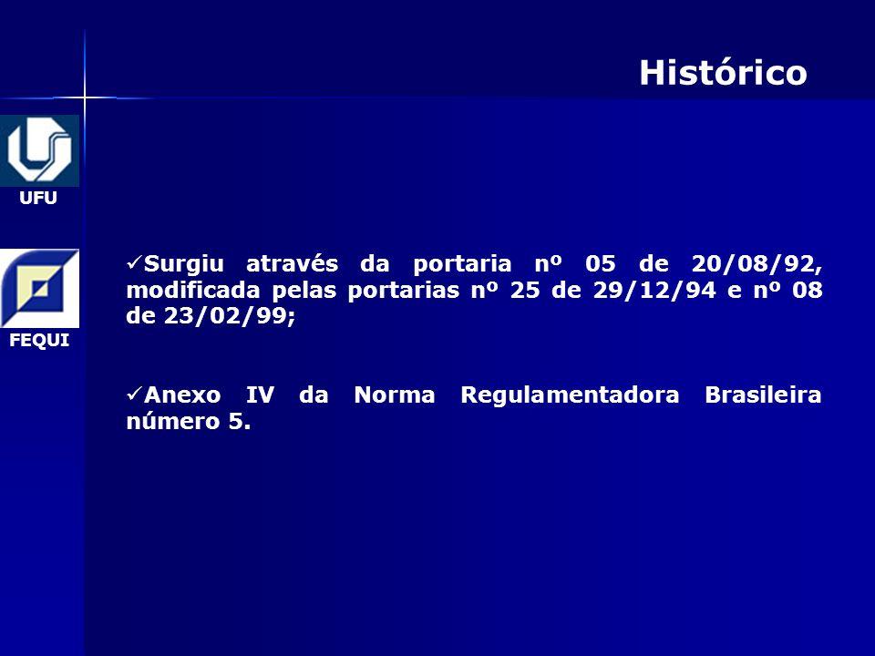 Histórico Surgiu através da portaria nº 05 de 20/08/92, modificada pelas portarias nº 25 de 29/12/94 e nº 08 de 23/02/99;