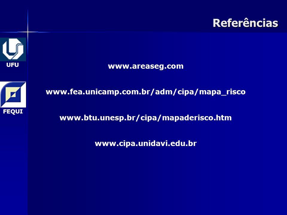 Referências www.areaseg.com www.fea.unicamp.com.br/adm/cipa/mapa_risco