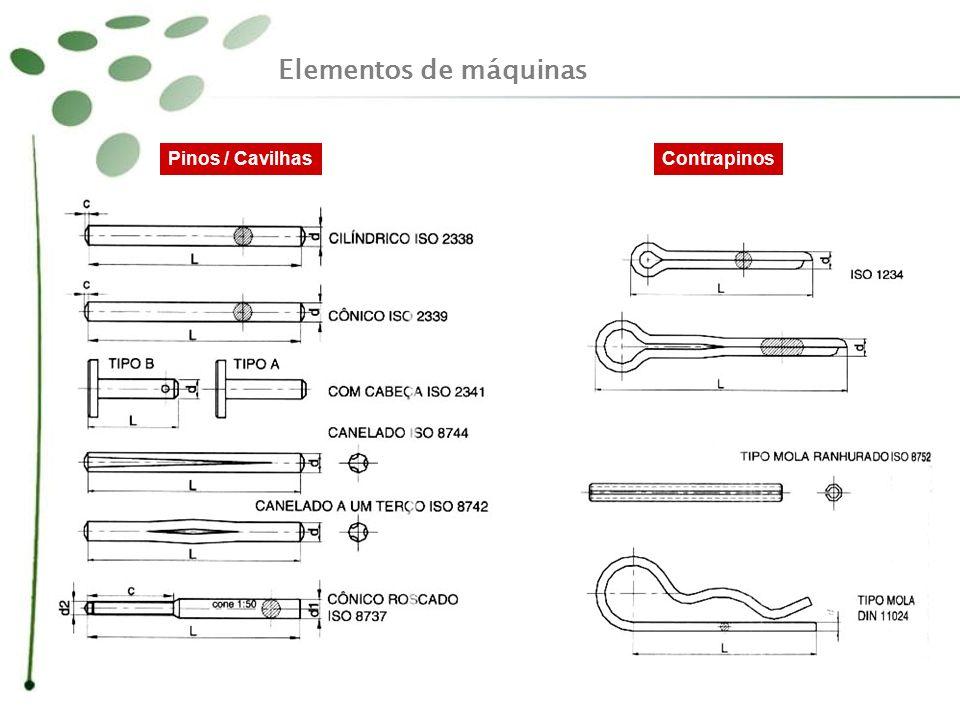 Elementos de máquinas Pinos / Cavilhas Contrapinos