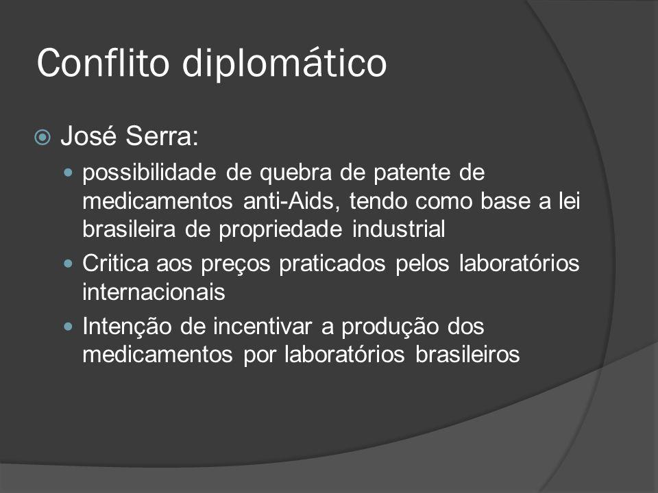 Conflito diplomático José Serra: