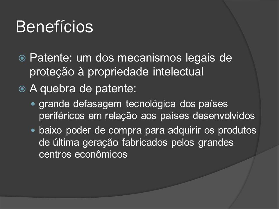 Benefícios Patente: um dos mecanismos legais de proteção à propriedade intelectual. A quebra de patente: