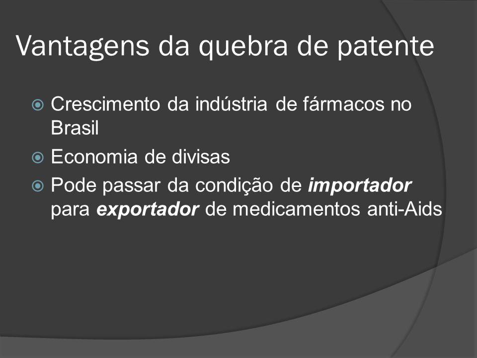 Vantagens da quebra de patente