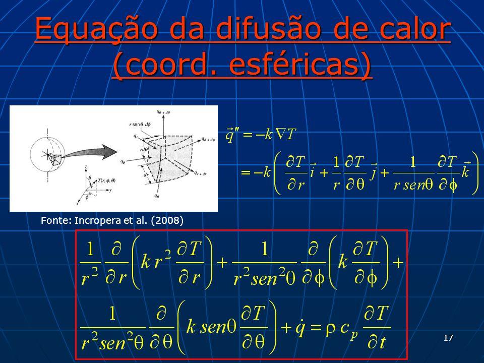 Equação da difusão de calor (coord. esféricas)