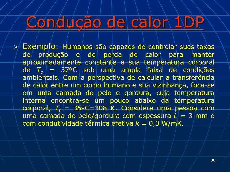 Condução de calor 1DP