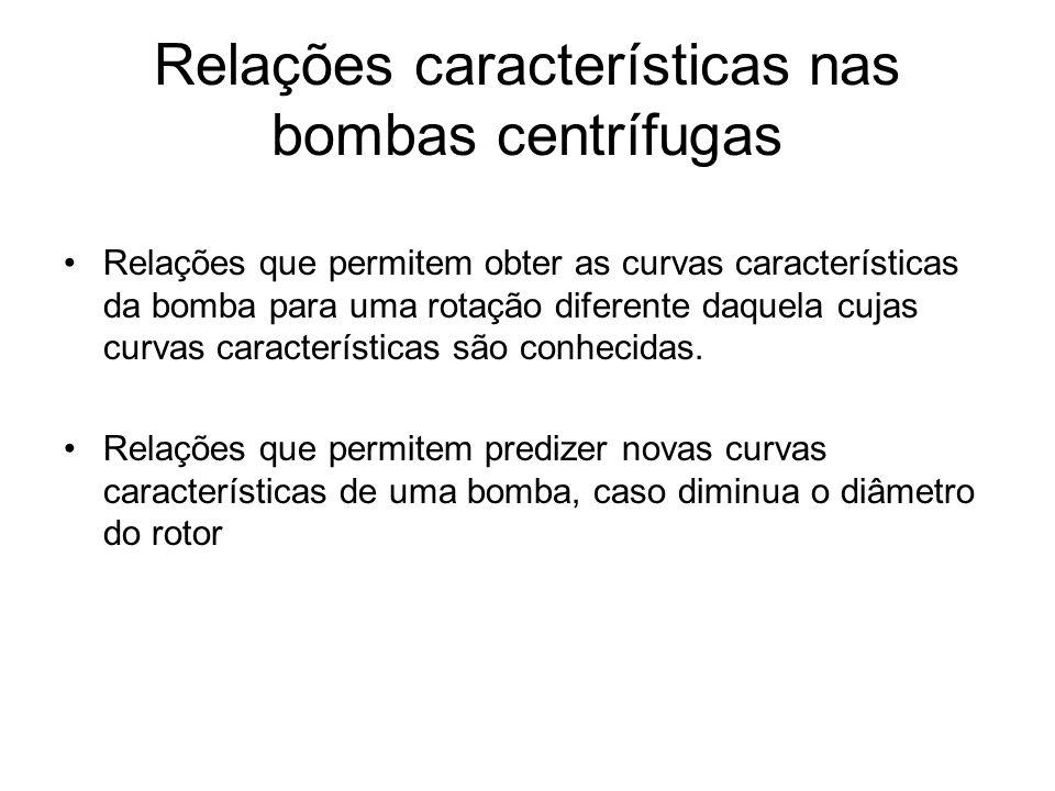 Relações características nas bombas centrífugas
