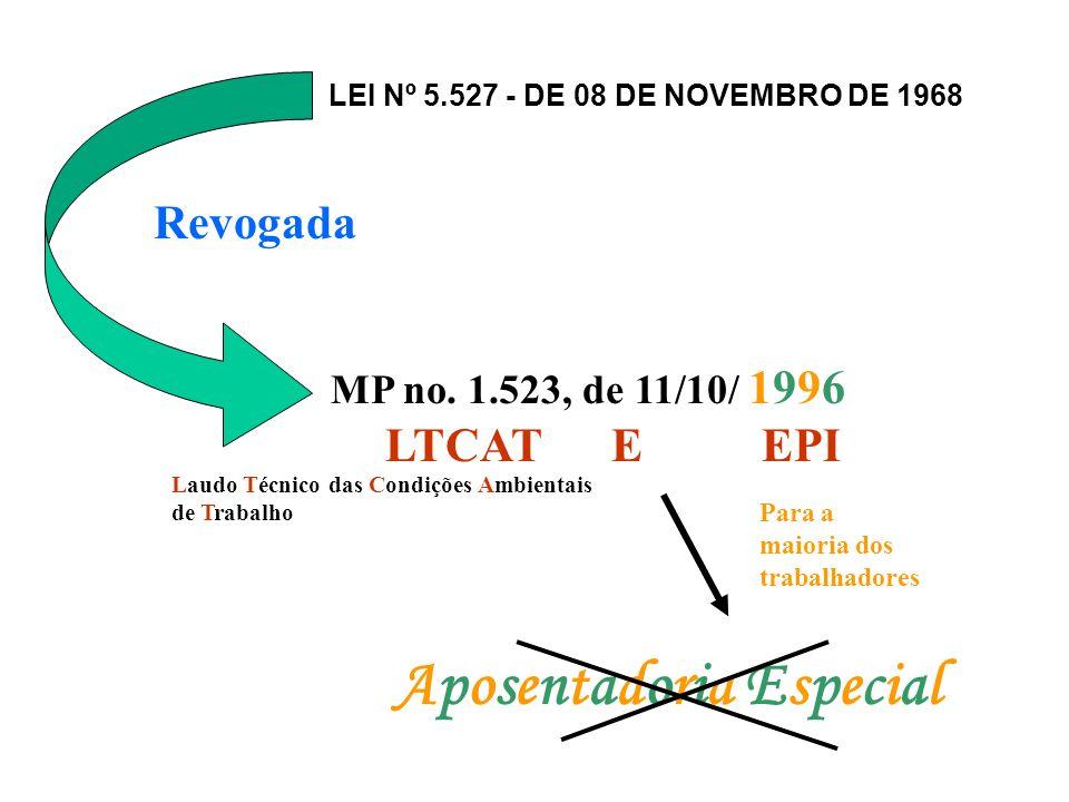 LEI Nº 5.527 - DE 08 DE NOVEMBRO DE 1968