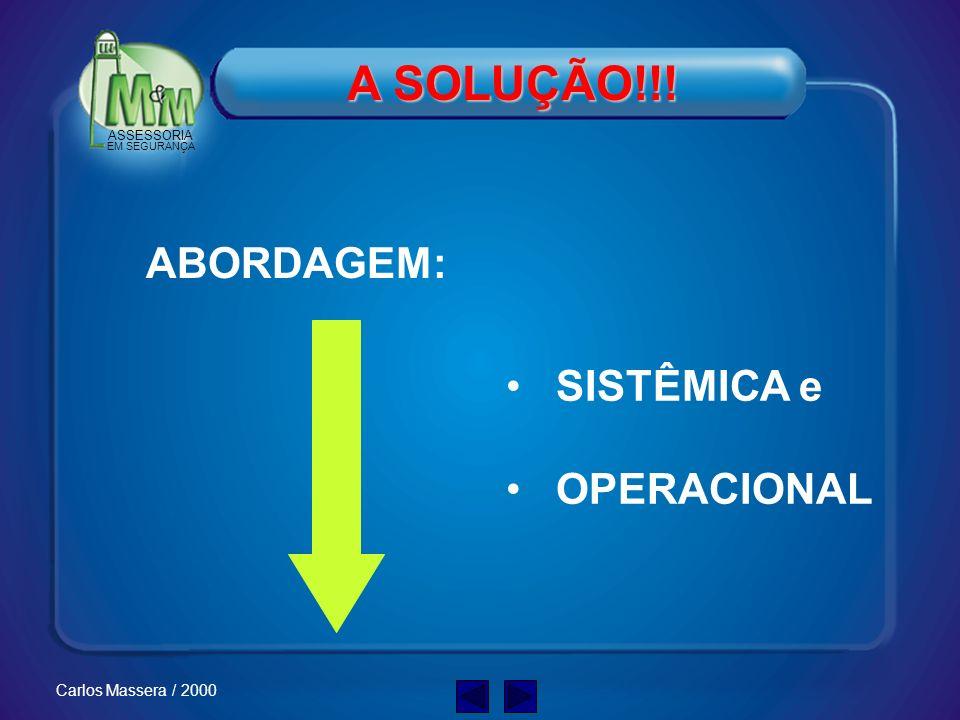 A SOLUÇÃO!!! ABORDAGEM: SISTÊMICA e OPERACIONAL