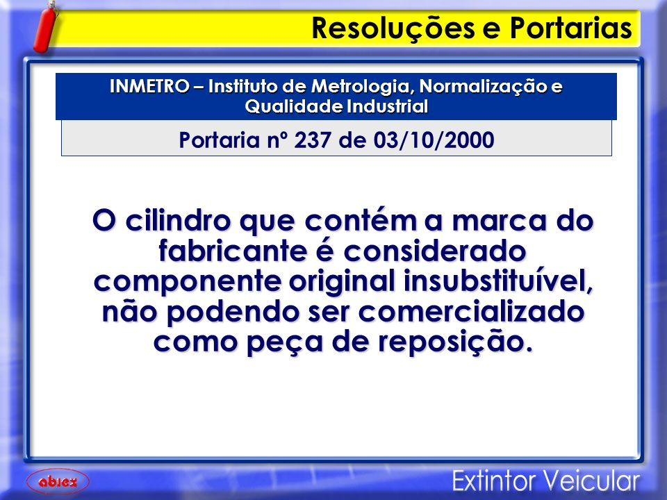 INMETRO – Instituto de Metrologia, Normalização e Qualidade Industrial