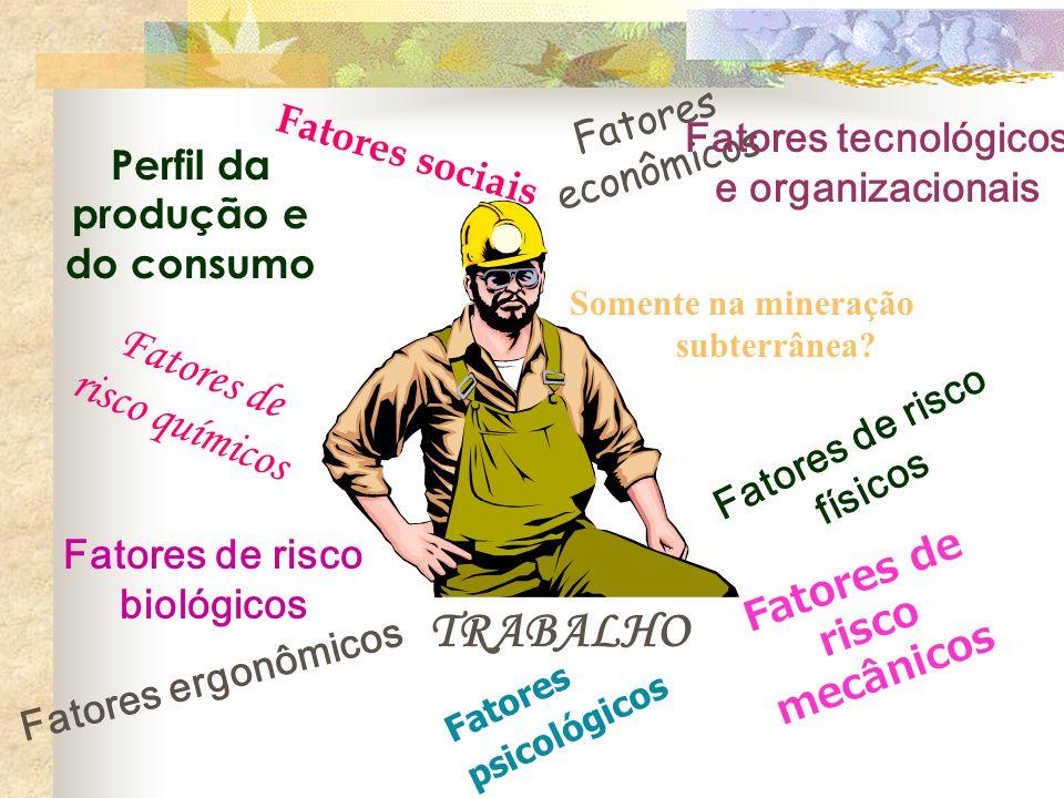 TRABALHO Fatores de risco químicos Fatores econômicos Fatores sociais