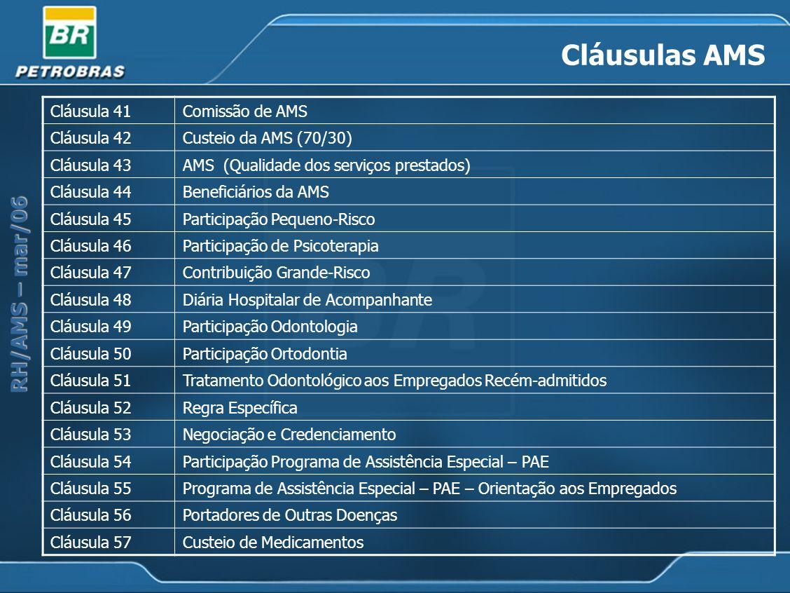 Cláusulas AMS Cláusula 41 Comissão de AMS Cláusula 42