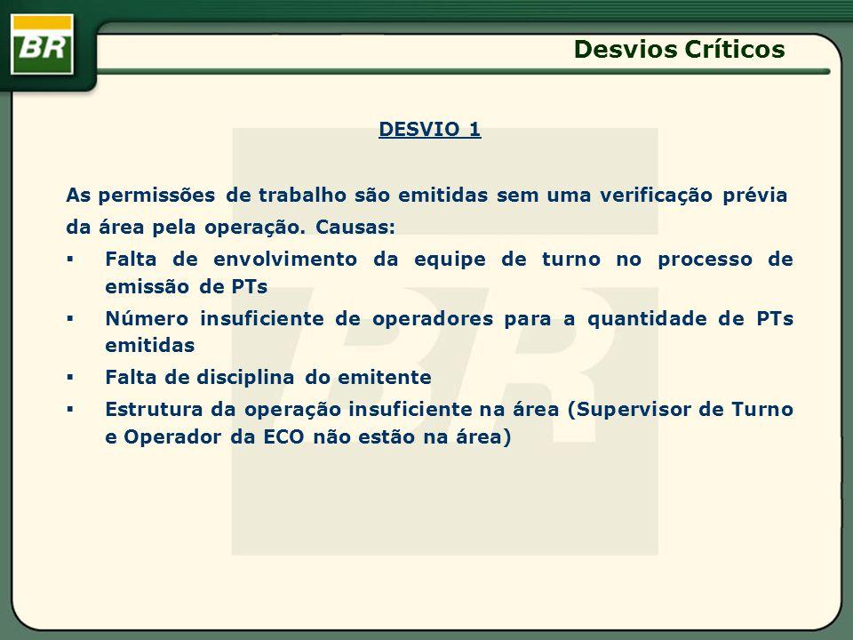 Desvios Críticos DESVIO 1
