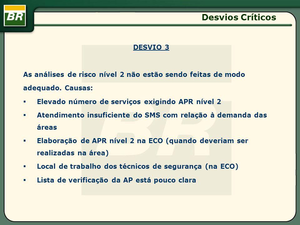 Desvios Críticos DESVIO 3