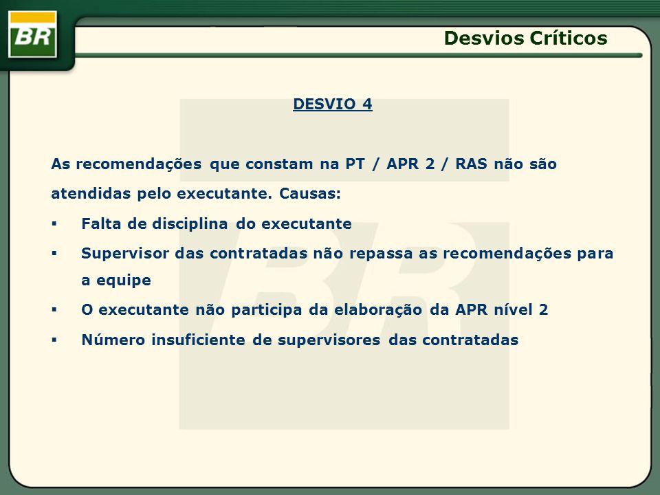 Desvios Críticos DESVIO 4
