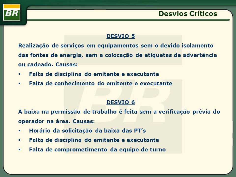 Desvios Críticos DESVIO 5