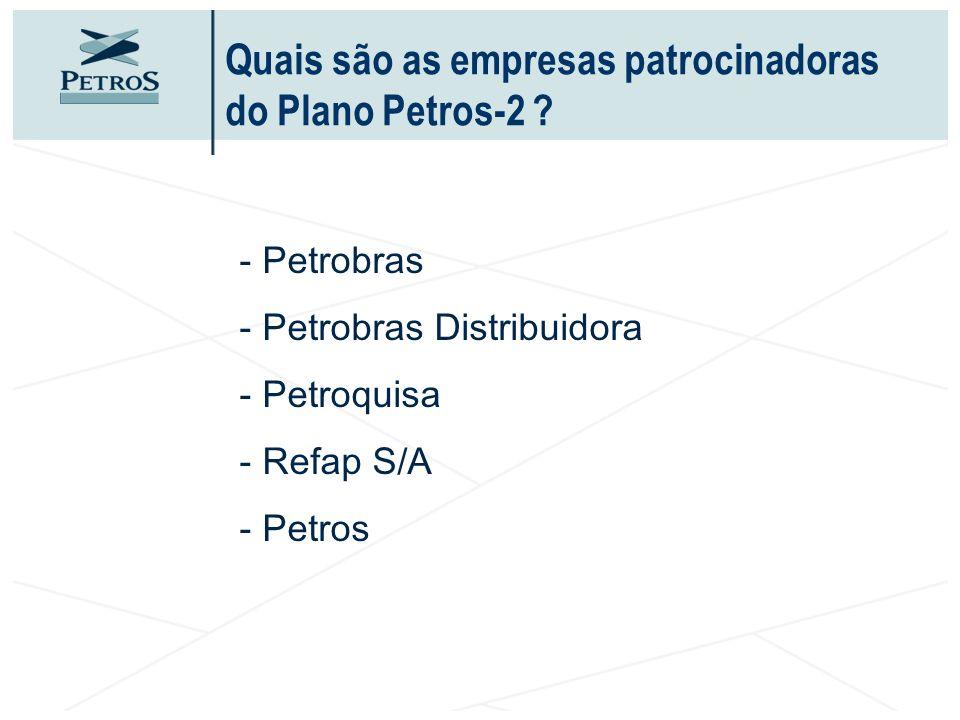 Quais são as empresas patrocinadoras do Plano Petros-2