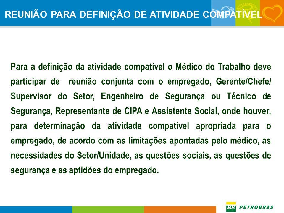 REUNIÃO PARA DEFINIÇÃO DE ATIVIDADE COMPATÍVEL