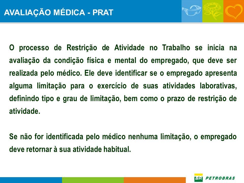 AVALIAÇÃO MÉDICA - PRAT