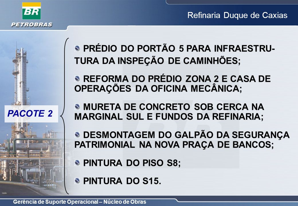 PRÉDIO DO PORTÃO 5 PARA INFRAESTRU-