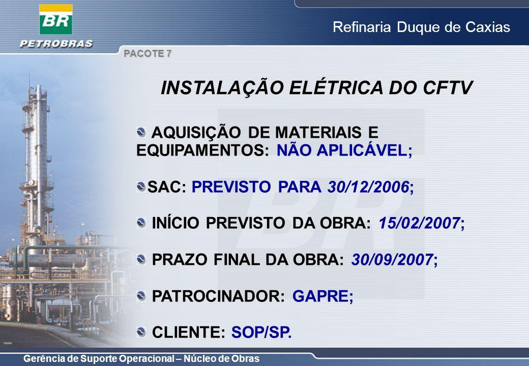 INSTALAÇÃO ELÉTRICA DO CFTV
