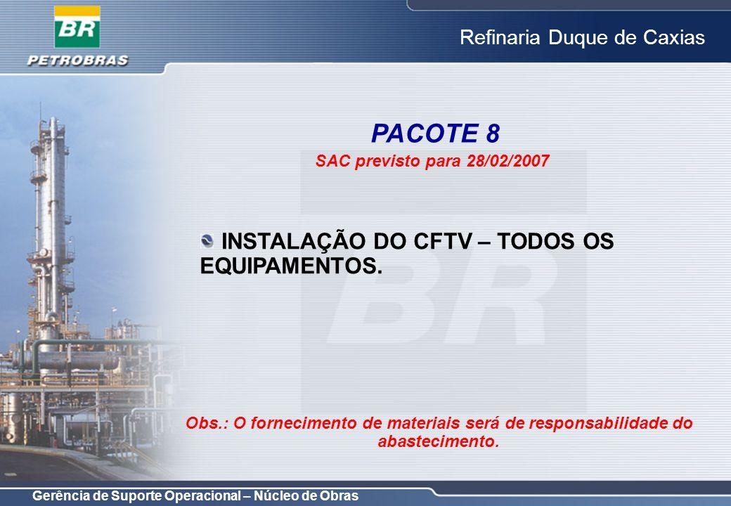 PACOTE 8 INSTALAÇÃO DO CFTV – TODOS OS EQUIPAMENTOS.