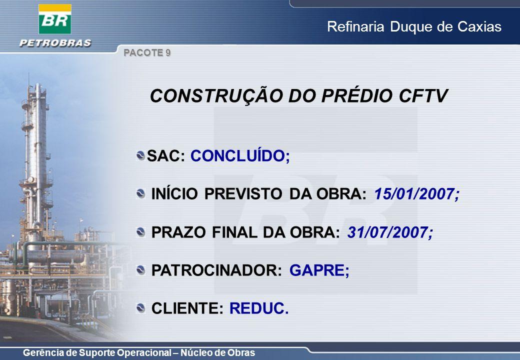 CONSTRUÇÃO DO PRÉDIO CFTV