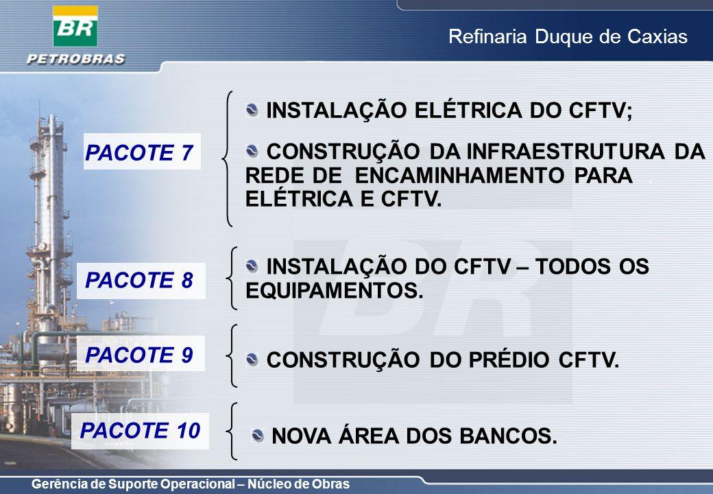 INSTALAÇÃO ELÉTRICA DO CFTV;