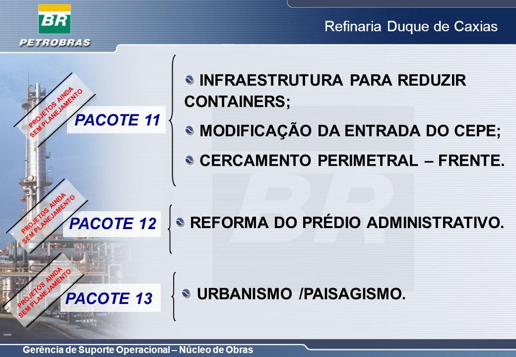 INFRAESTRUTURA PARA REDUZIR CONTAINERS;
