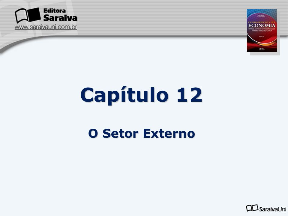 Capítulo 12 O Setor Externo 2 2 2