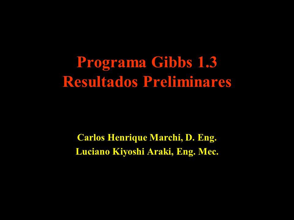 Programa Gibbs 1.3 Resultados Preliminares