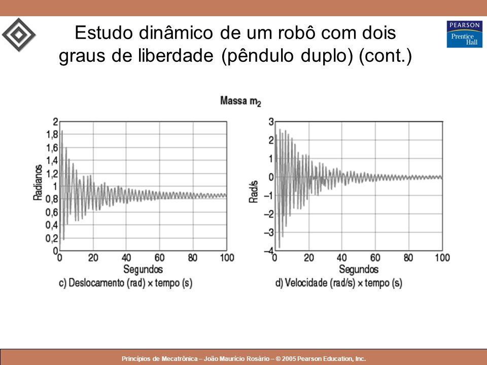 Estudo dinâmico de um robô com dois graus de liberdade (pêndulo duplo) (cont.)