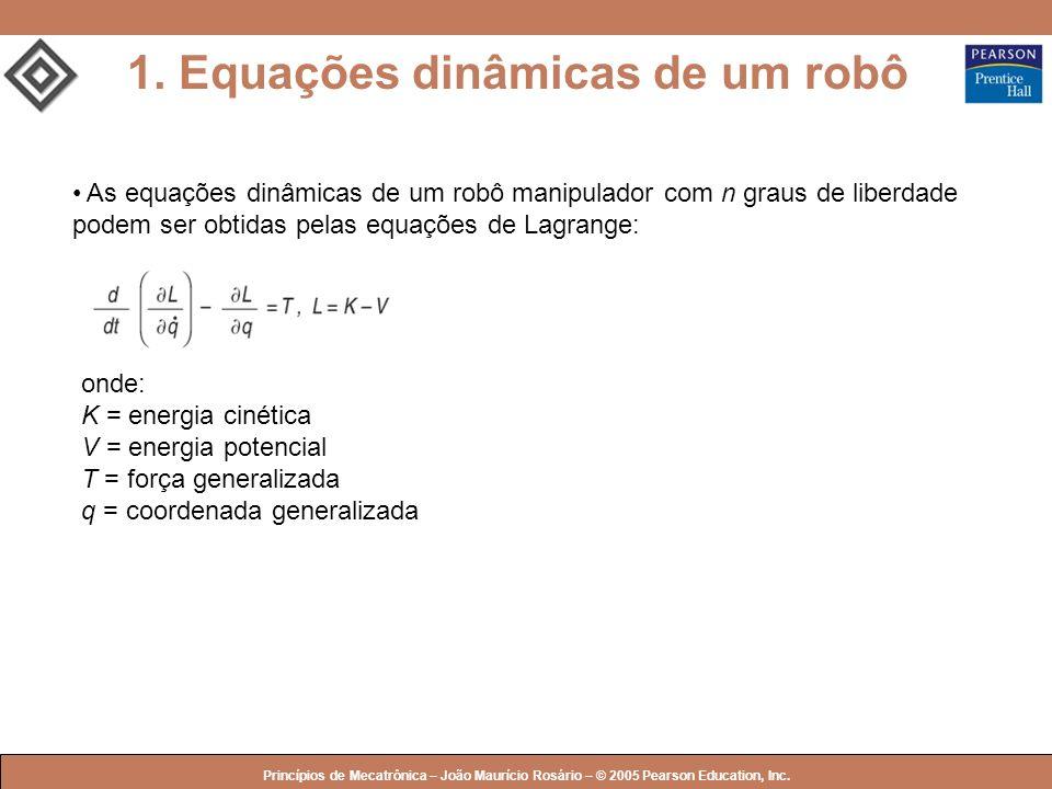 1. Equações dinâmicas de um robô