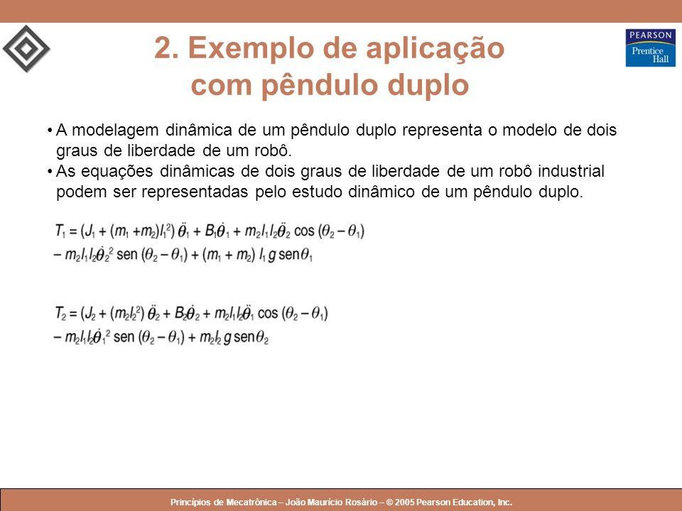 2. Exemplo de aplicação com pêndulo duplo