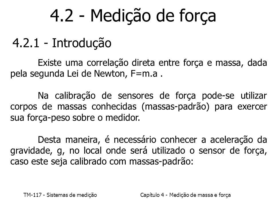 4.2 - Medição de força 4.2.1 - Introdução