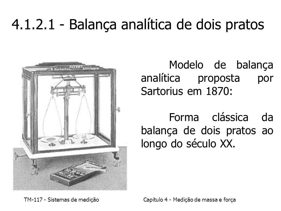 4.1.2.1 - Balança analítica de dois pratos