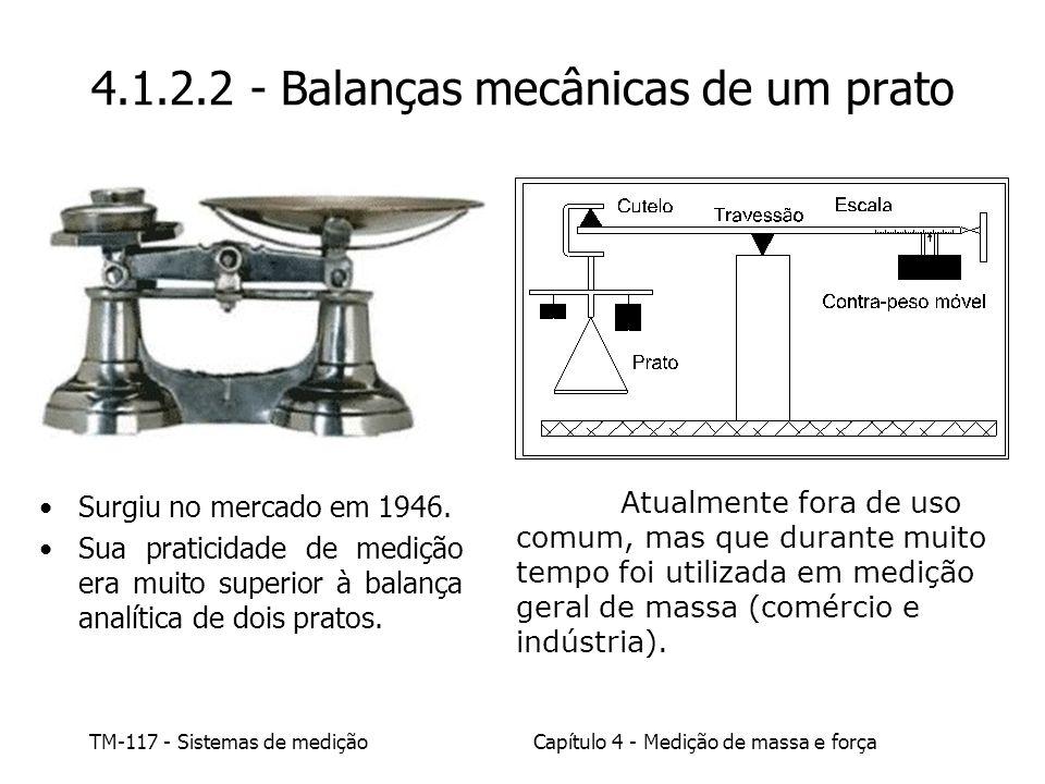 4.1.2.2 - Balanças mecânicas de um prato