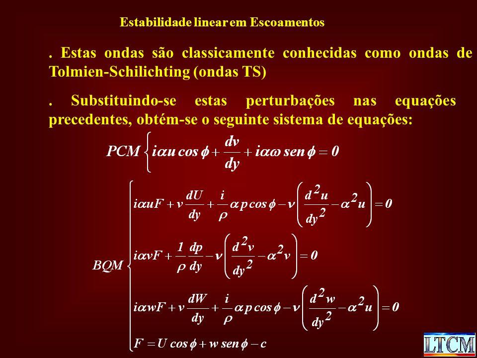 Estabilidade linear em Escoamentos