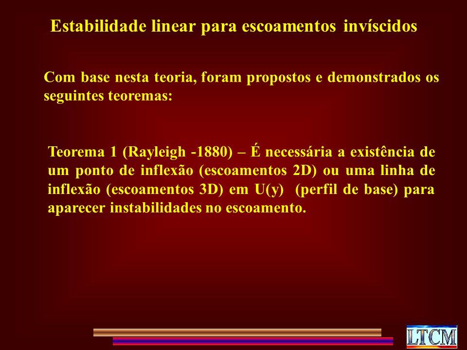 Estabilidade linear para escoamentos invíscidos