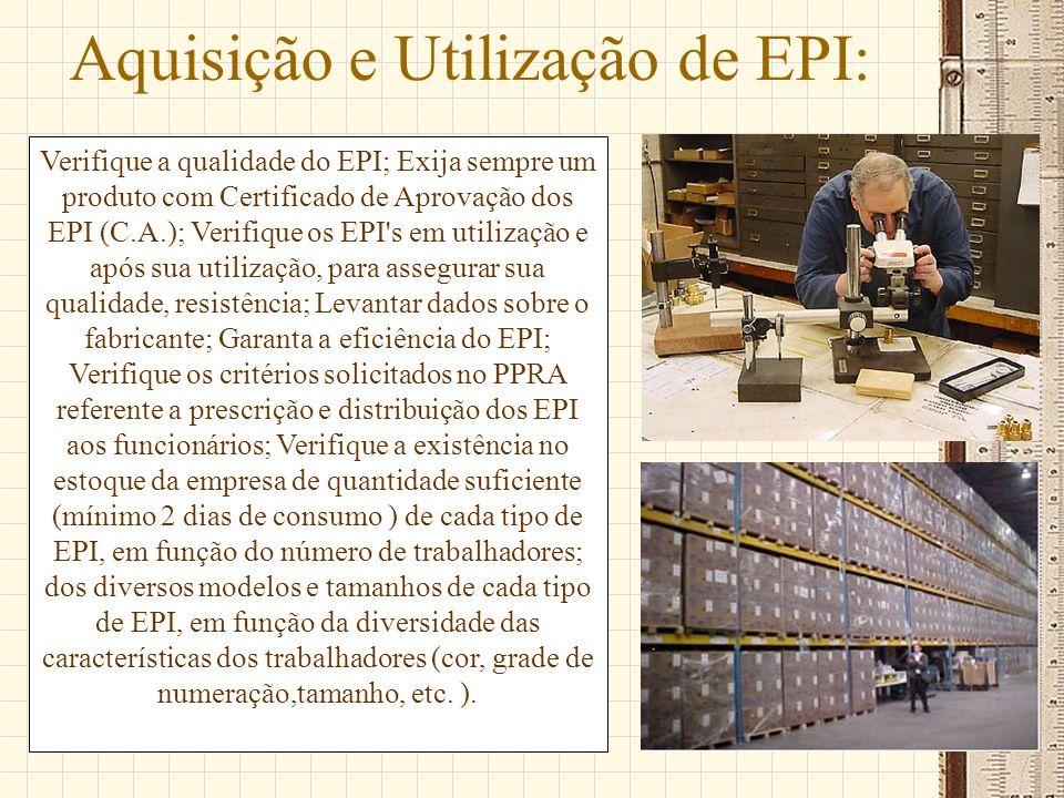 Aquisição e Utilização de EPI: