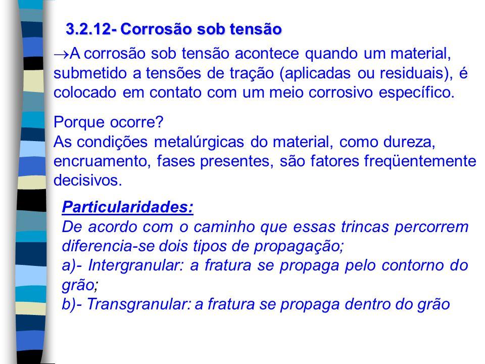 3.2.12- Corrosão sob tensão