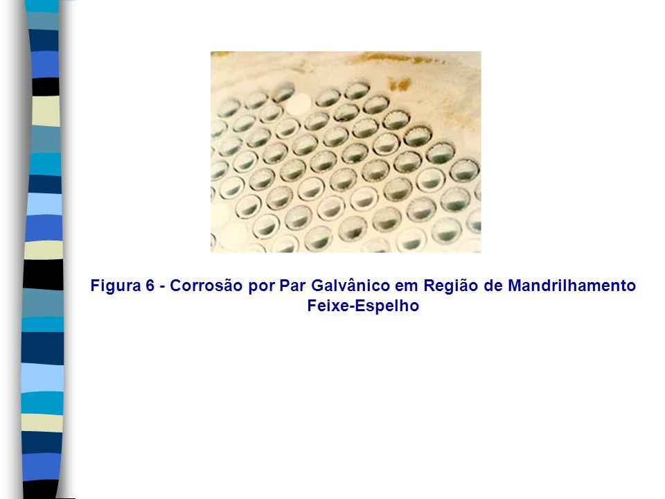 Figura 6 - Corrosão por Par Galvânico em Região de Mandrilhamento Feixe-Espelho