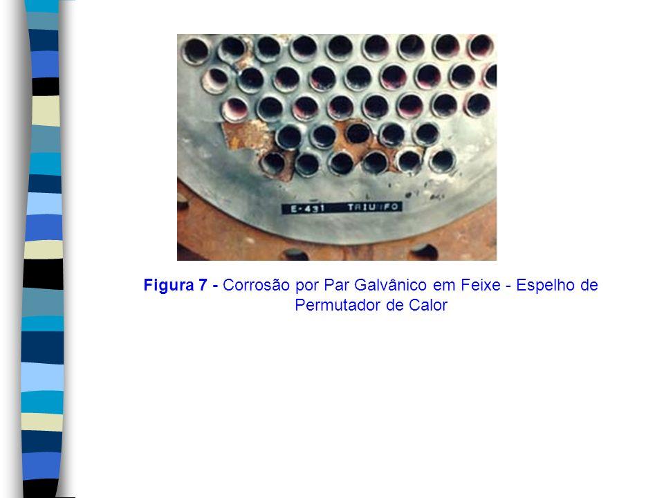 Figura 7 - Corrosão por Par Galvânico em Feixe - Espelho de Permutador de Calor