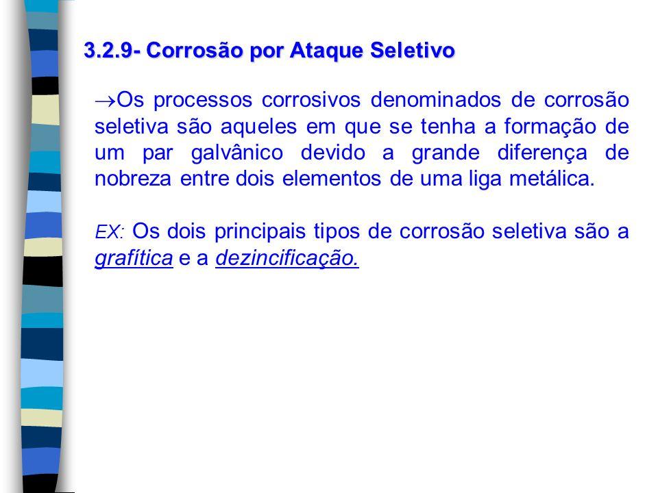 3.2.9- Corrosão por Ataque Seletivo
