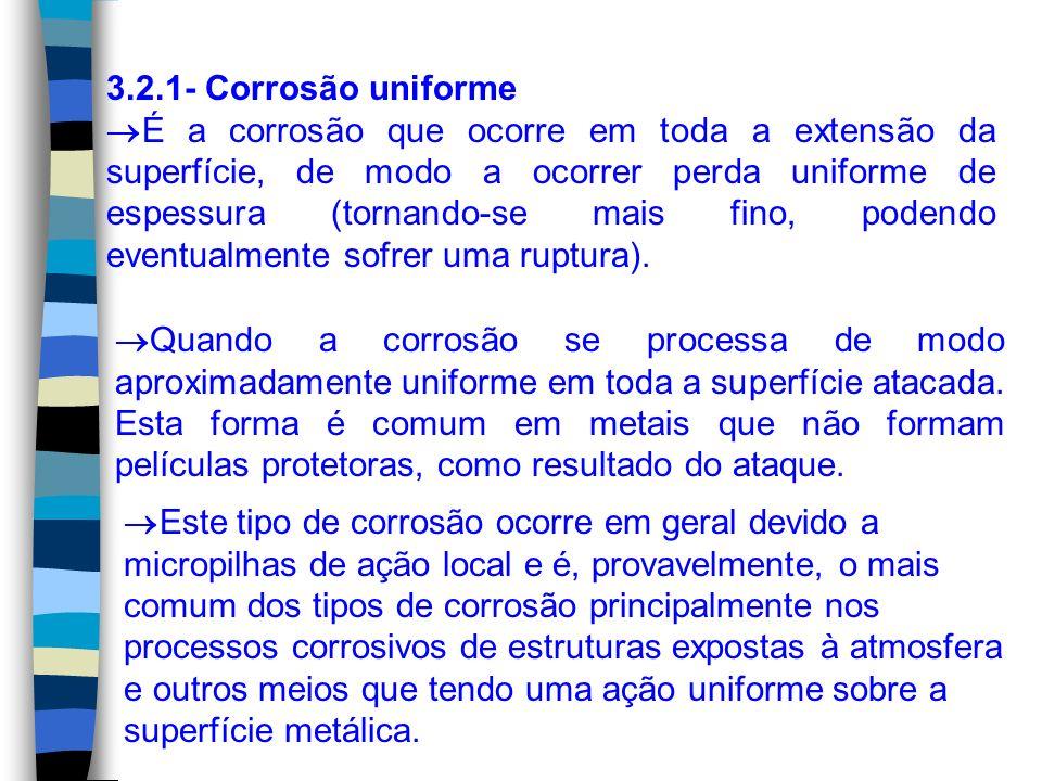 3.2.1- Corrosão uniforme